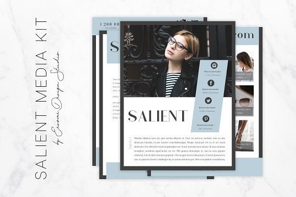 Blog Media Kit Template by Eesome Design Studio on @creativemarket