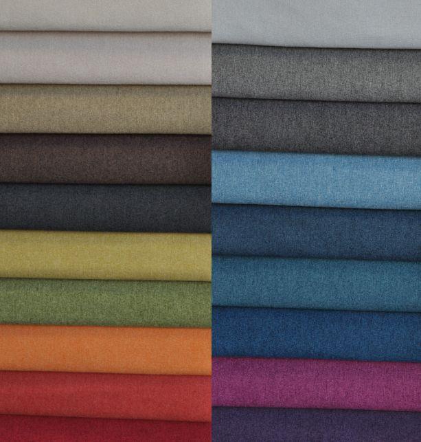 MALAGA raz jeszcze :) tkanina poliestrowa, która doskonale imituje bawełnę :) Jest odporna, trwała i - jak widać - dostępna w wielu kolorach :)  #upholstery #fabrics