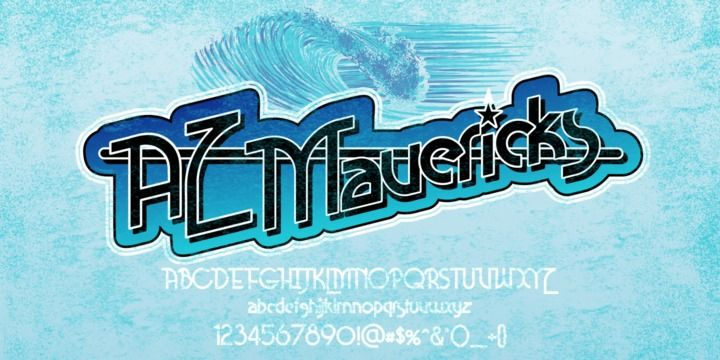 AZ Mavericks Font Download - AZ Mavericks was inspired from