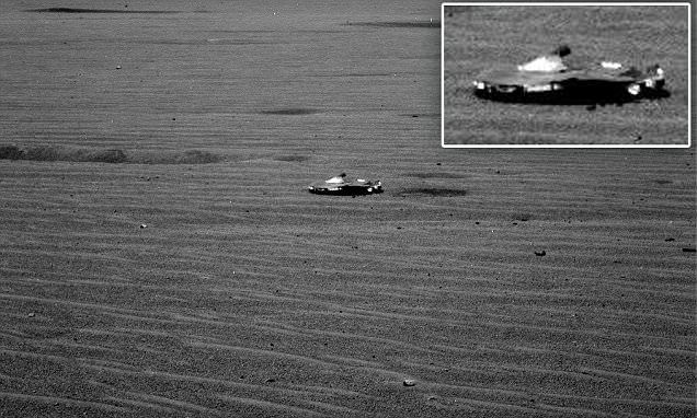 Is this an alien spaceship on Mars or NASA debris? Curiosity rover spots a mystery object on the red planet sending conspiracy theorists into a spin