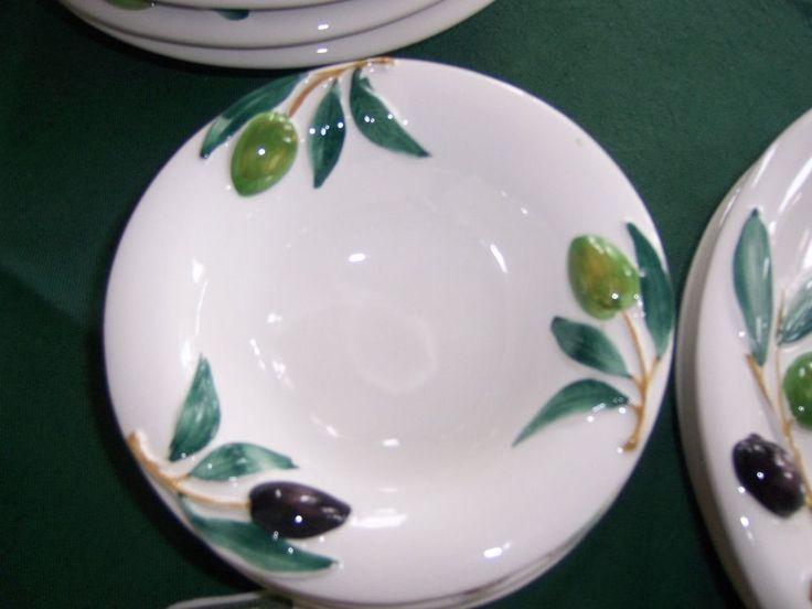bassano italienische keramik 4 salat teller 16 cm oliven glas und porzelan pinterest. Black Bedroom Furniture Sets. Home Design Ideas