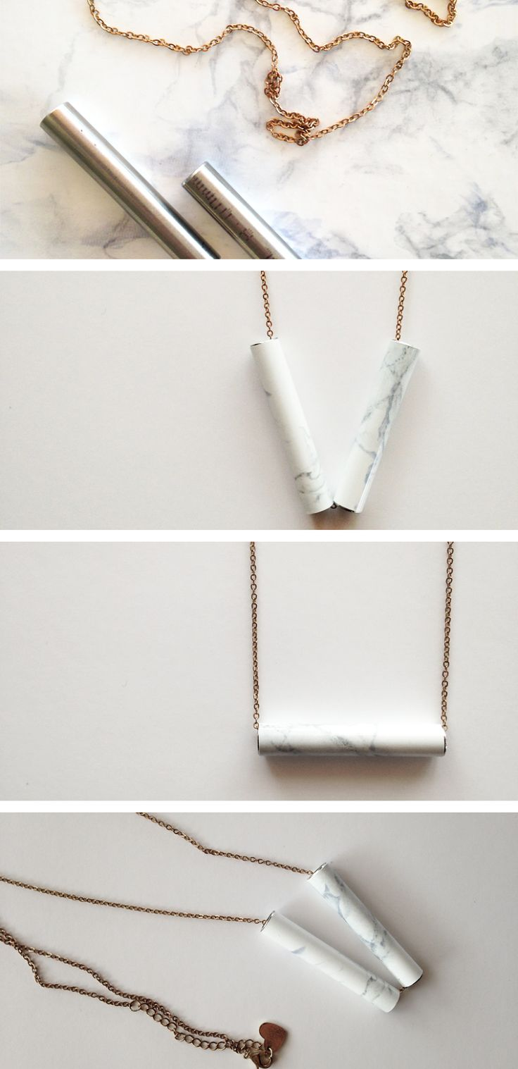 FEEL INSPIRED BLOG: DIY | MARBLE NECKLACE