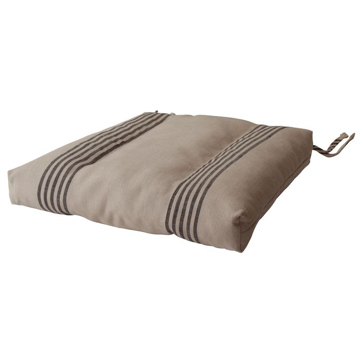 ULLAMAJ Chair cushion - beige/black - IKEA. Imitation grain sack perfection!