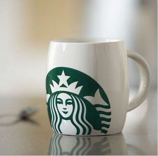 High Quality  Starbucks mugs Classic white Version Ceramic mug 14 oz coffee cups for collection & drinking with one gift-in Mugs from Home & Garden on Aliexpress.com