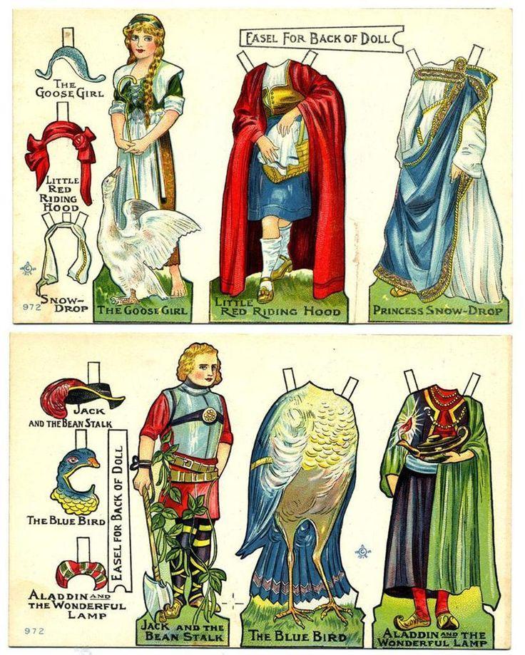 Print. ca 1911. Parts of Paper Dolls | eBay