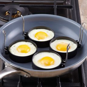 Shop CHEFS Round Nonstick Egg Rings, 3 inch at CHEFS - nonstick, cooks evenly and releases easily - also great for pancakes, hamburgers, crab cakes