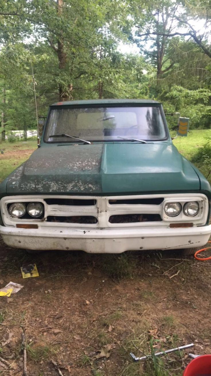 Cleaning an old 67 gmc c10 before i start working on the engine