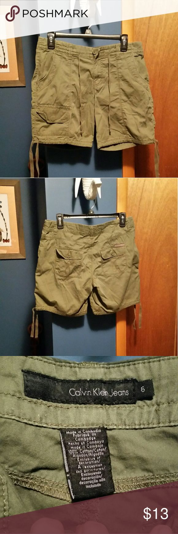 Calvin Klein army green shorts In brand new condition. * Calvin Klein Jeans Shorts