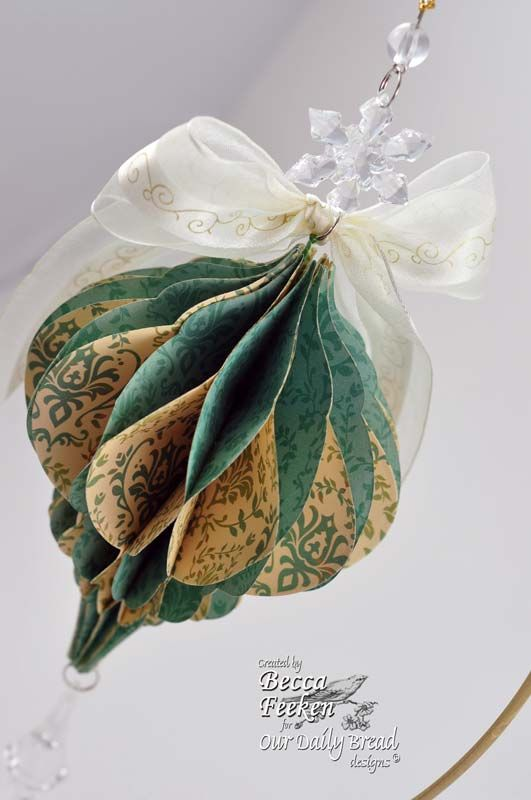 My Favorite Ornament » Our Daily Bread » Stamping » Amazing Paper Grace  Does any know how to make the paper ornament?