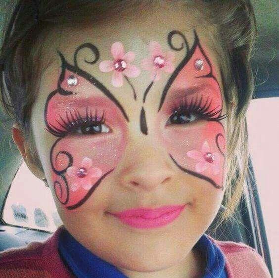 como hacer maquillaje de mariposa