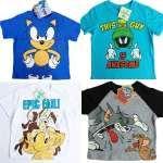 Licensed T Shirt Tee Sz 1 – 7 Sonic Road Runner Marvin Martian Cotton Original