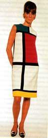 Vestido Mondrian, típico de los años 60's