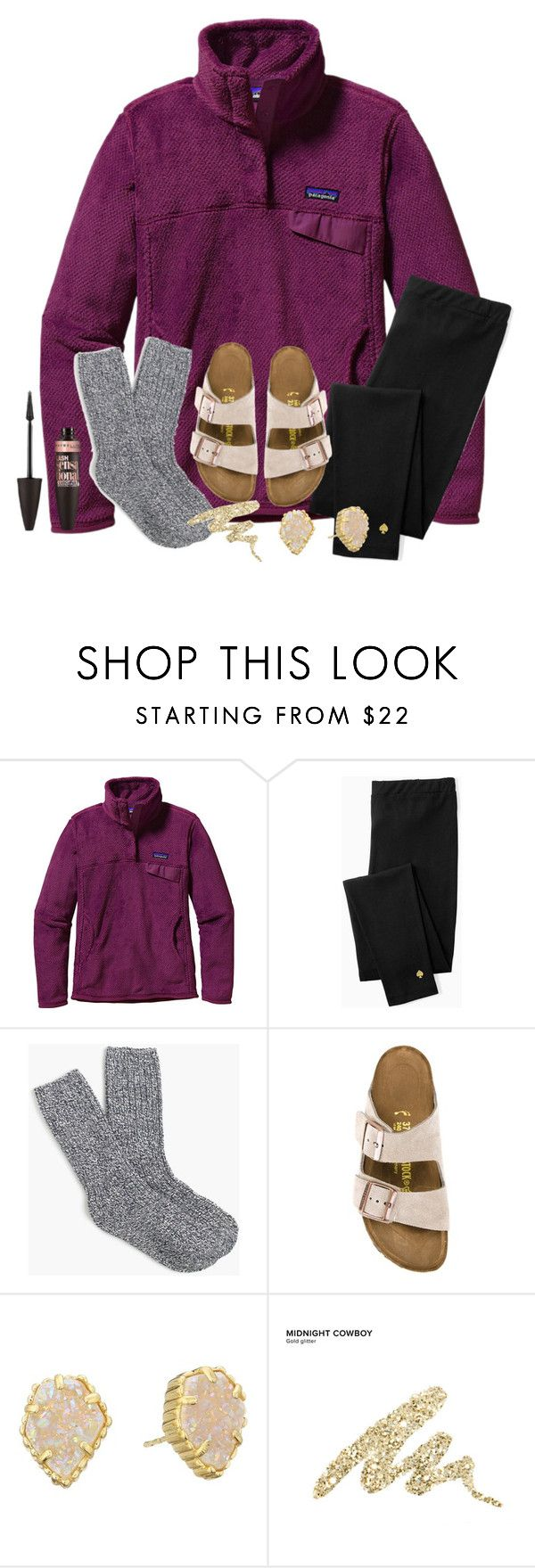 """""""1000 FOLLOWERS THANKS"""" by abby14310 ❤ liked on Polyvore featuring Patagonia, Kate Spade, J.Crew, Birkenstock, Kendra Scott, Urban Decay and Maybelline"""
