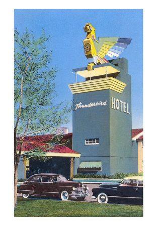 Early Thunderbird Hotel Lasvegas Vegas Retro