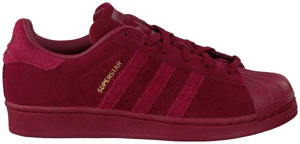 Rode Adidas Sneakers SUPERSTAR J