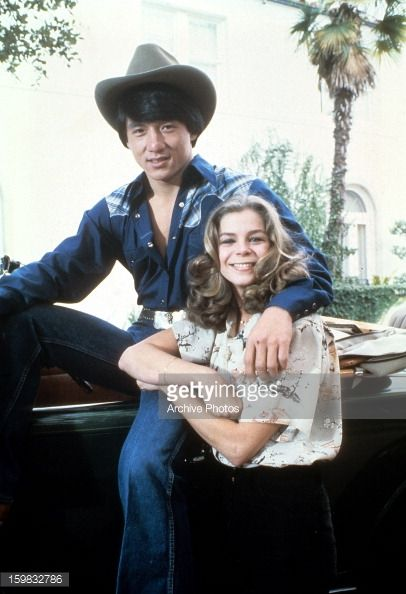 Jackie Chan and Kristine DeBell circa 1975