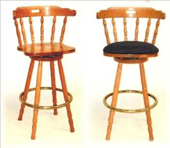 Set of Three Matching  Captain  Swivel Counter/ Bar Stools w/ Brass Foot Rings Constructed in USA of Solid Oak in Medium Caramel M.  sc 1 st  Pinterest & 24 best Kitchen Design images on Pinterest | Kitchen designs ... islam-shia.org