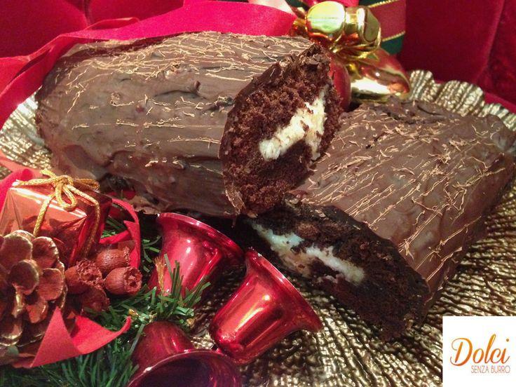 Tronchetto di Natale Senza Burro, il dolce di natale francese di Dolci Senza Burro