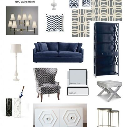 64 Best Navy And White Images On Pinterest Living Room Homes And For The Home