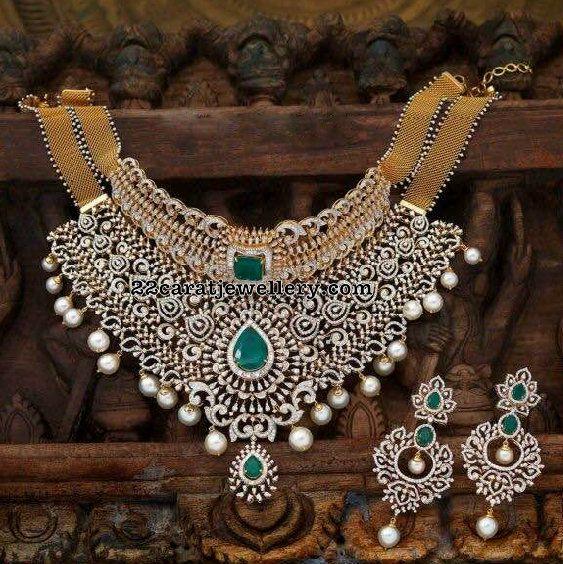 Multipurpose Heavy Diamond Set - Jewellery Designs