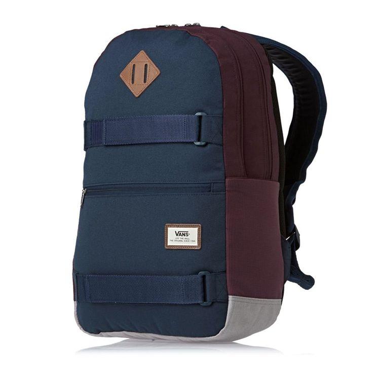 Zaino Vans - Authentic III Sk8Pack blu/bordò: Amazon.it: Scarpe e borse