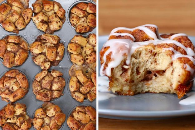 Cinnamon Roll Breakfast Muffins   41 Tasty Breakfast And Brunch Ideas To Save For Later