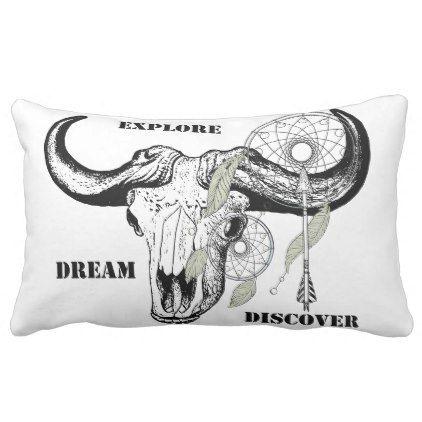 Explore Dream Discover Lumbar Pillow - diy & cyo customize