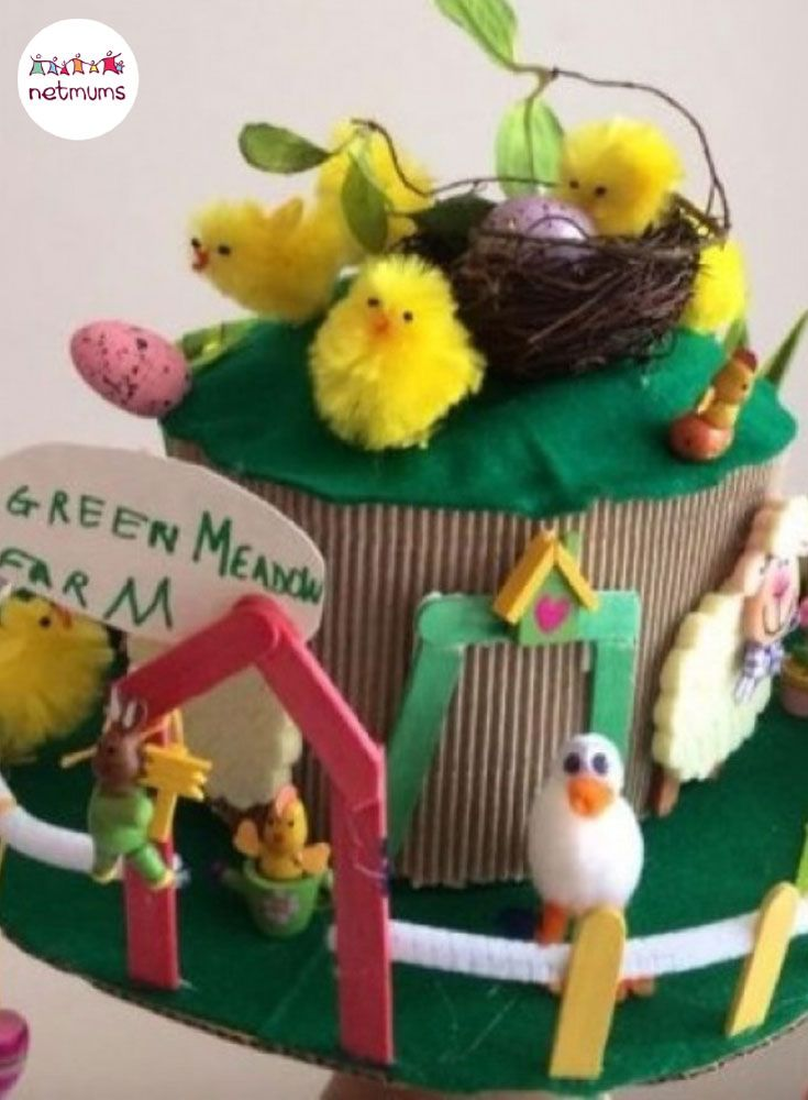 Struggling for Easter bonnet ideas for boys? We've got 25 brilliant bonnet ideas for you to make, featuring everything from dinosaurs to Batman. This meadow Easter bonnet is super cute, whilst gender neutral !!!