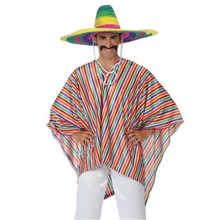 Déguisement Mexicain Poncho pour homme #déguisementsadultes #costumespouradultes #nouveauté2016