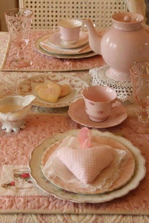 Pink dinnerware
