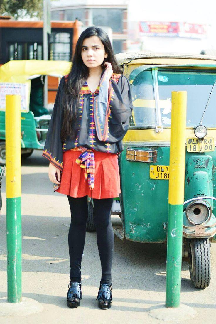Front Knot Banjara Multi Colour Top By Preeti S Kapoor