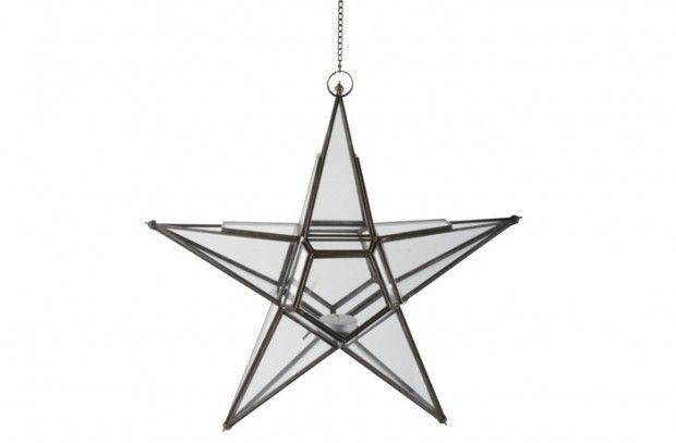 Leuk Webshop : Glazen lantaarn ster-lantaarn ster 0806-25