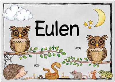 "Ideenreise: Weitere Themenplakate ""Eulen/Mein Körper"""