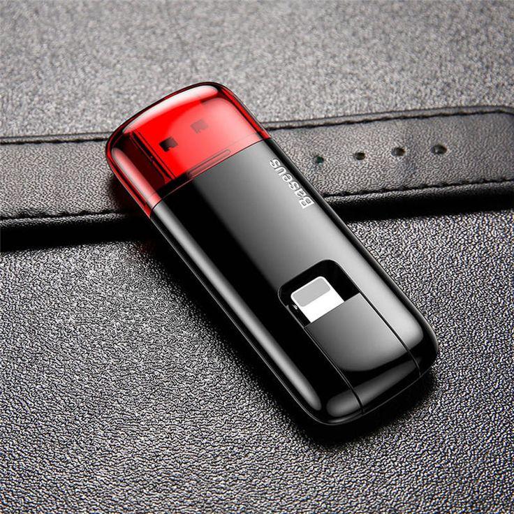 Baseus Red Obsidian Z1 32G 64G U Disk Micro USB OTG U Disk for iPhone 8 iPhone X Samsung Xiaomi Sale - Banggood.com