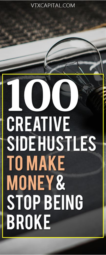 Looking for ways to make extra money (and even make money from home)? Then you NEED this list of 100 creative side hustles to try to increase your income
