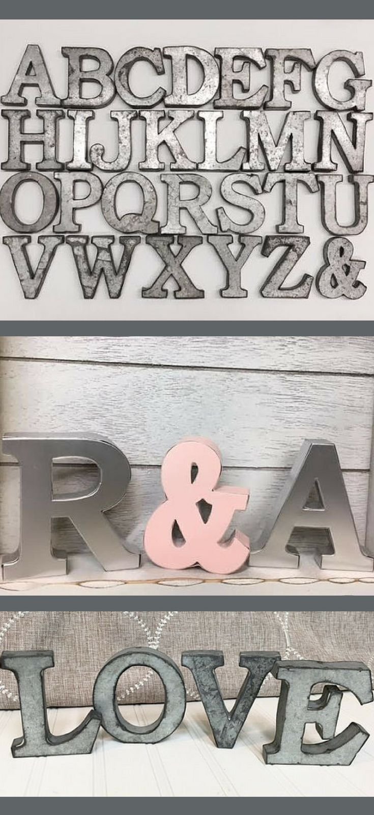 Metal Letters In Your Choice Of 21 Colors Wall Letters Home Decor