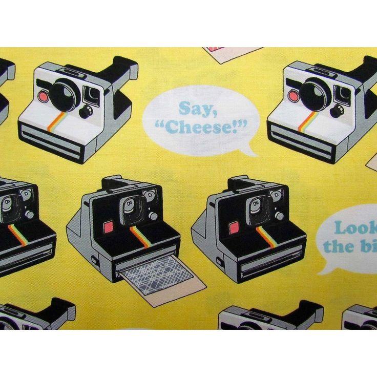 Geekly Chic- Polaroid #rileyblake #cottonfabric #patchwork #quilting #patchworkfabric #retro