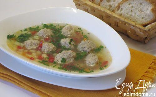 Суп с фрикадельками в мультиварке | Кулинарные рецепты от «Едим дома!»