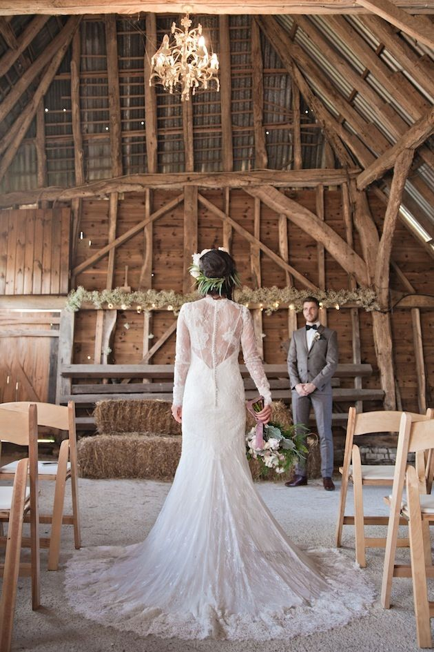 Beautiful Barn Wedding Inspiration Shoot A Winter S Romance Dresses
