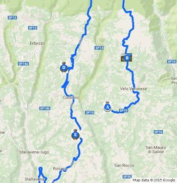 Mappa visita in Lessinia