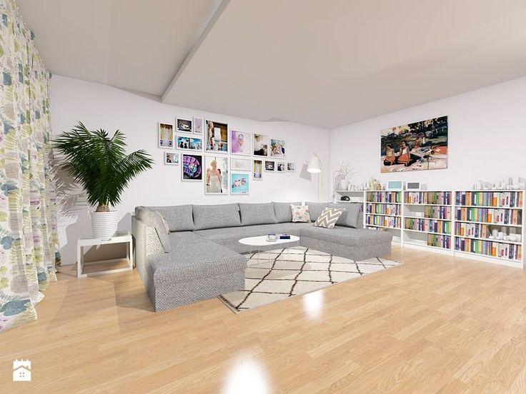 Salon z miejscem na pamiątki - zdjęcie od Maszroom: Karolina Pogorzelska - Salon - Styl Skandynawski - Maszroom: Karolina…