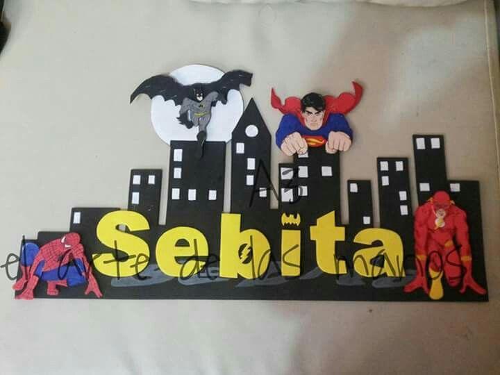 Decoracion de habitaciones y o fiestas de los super heroes