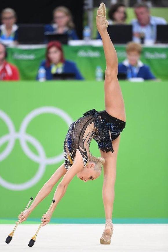 Yana KUDRYATSEVA (Russia) ~ Clubs - SILVER MEDAL @ Olympic Games São Paulo-Brazil 2016 Photographer Oleg Naumov.
