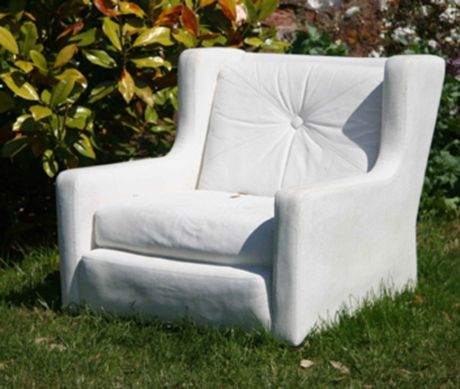 Abstract Mass – Concrete Chair by Nina Saunders. there are other concrete chairs at this link