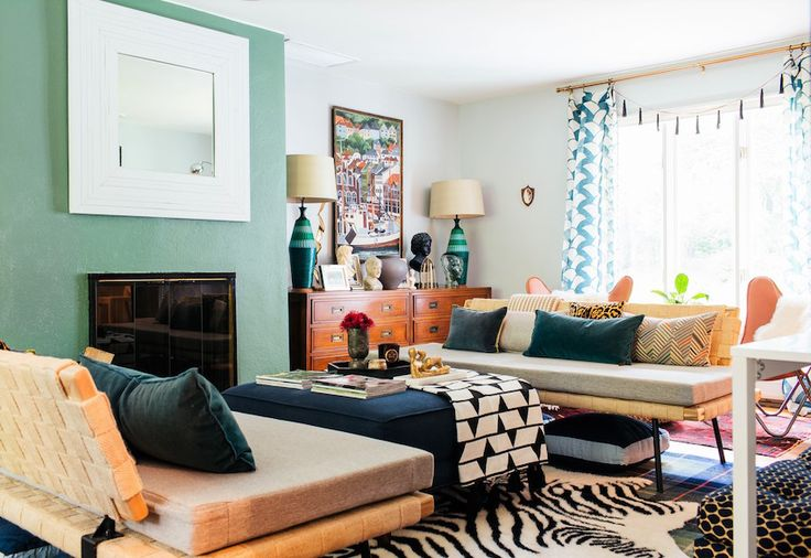 A Family's Eclectic Style Transforms a Mid-Century Ranch Home | Design*Sponge Ethan Allen daybeds