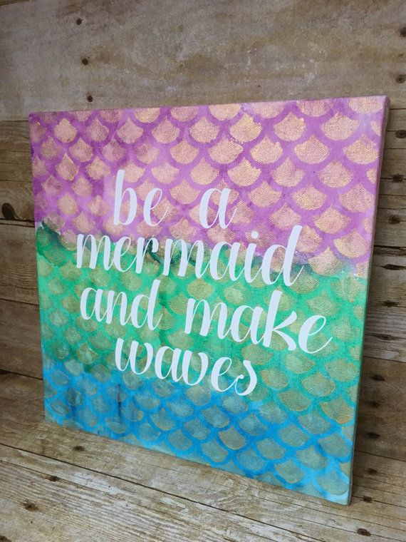 Hey, I found this really awesome Etsy listing at https://www.etsy.com/listing/492518250/mermaid-wall-decor-canvas-painting-with