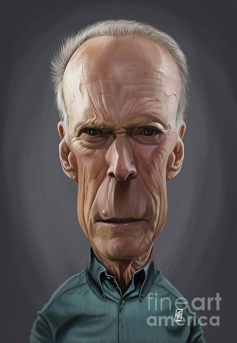 Clint Eastwood art | decor | wall art | inspiration | caricature | home decor | idea | humor | gifts