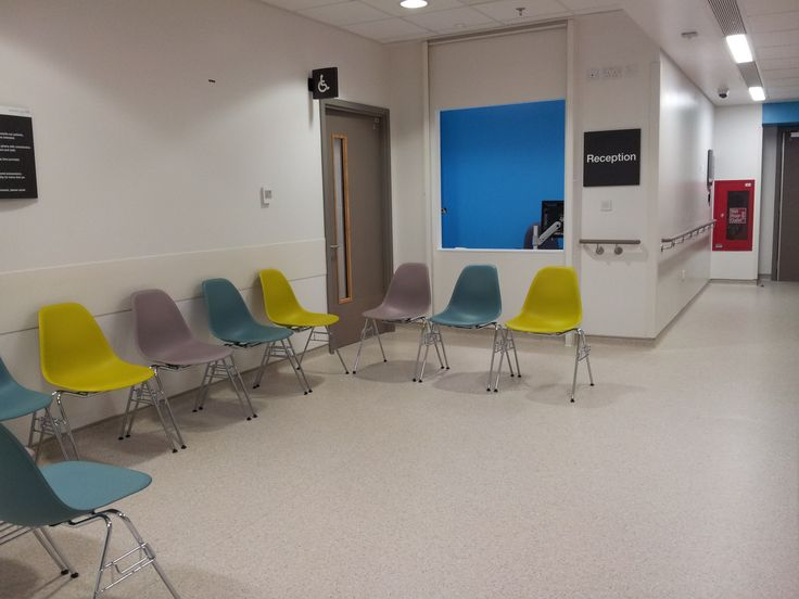 Reception and disabled toilet area on 10th floor of The new Royal London Hospital Whitechapel London