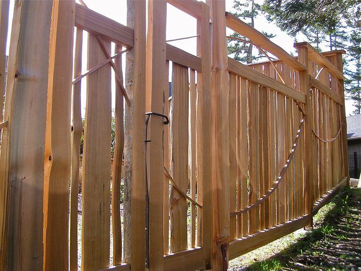 Hand split cedar fence and entrance gates