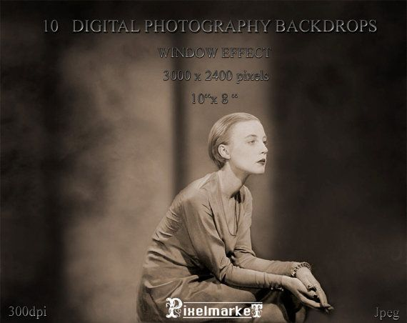 Digital PHOTO BACKDROPS with Window Effect Set of by pixelmarket